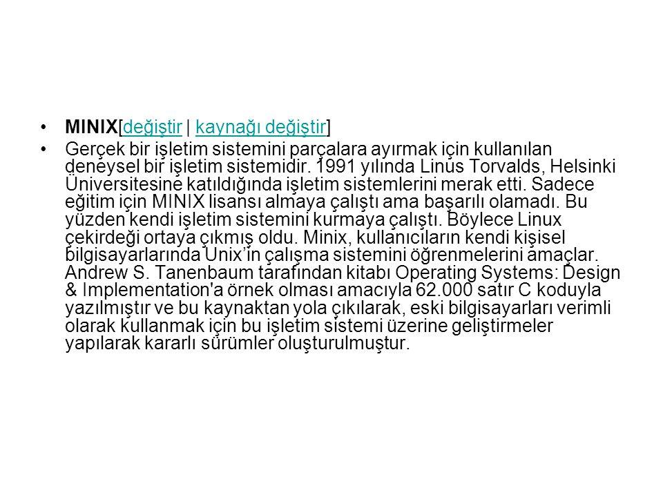 MINIX[değiştir   kaynağı değiştir]